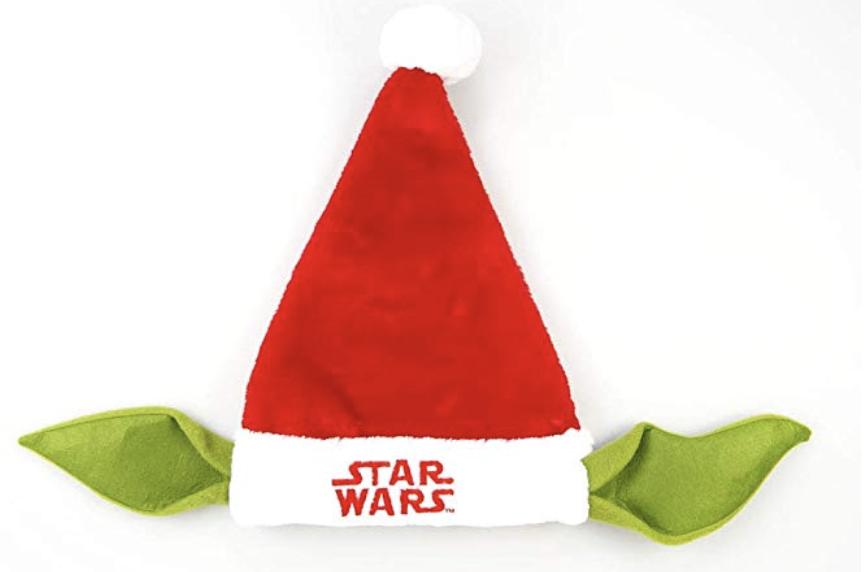Star Wars santa hat the child or Yoda.