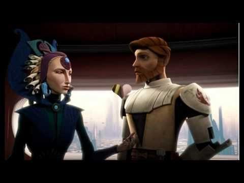 Obi-Wan Kenobi with the Duchess Satine.