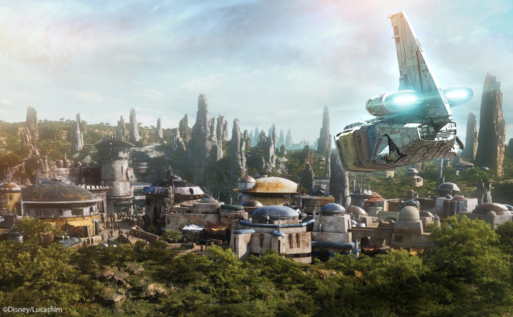 Batuu sits on the Outer Rim of the galaxy, right before Wild Space and the Unkown Regions. Batuu used to be a popular spot as it served as a crossroad to sub-lightspeed trade routes, but when the invention of hyperspace travel came about the planet fell off the map.