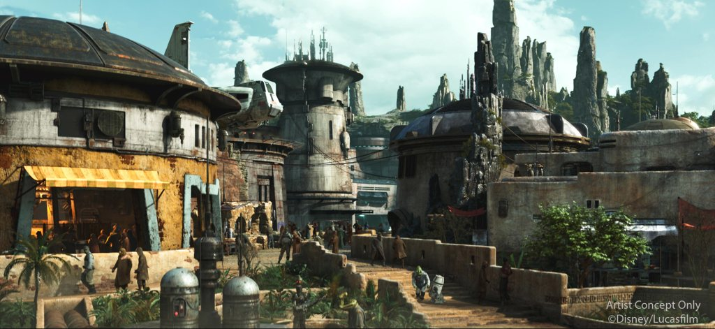 Black Spire Outpost is the village in Batuu. Here you will find shops for clothes, toys, trinkets, and much more, as well as, a place to eat and get yourself blue or green milk or see some landspeeders in a shop. There are plenty of things to see and do here.