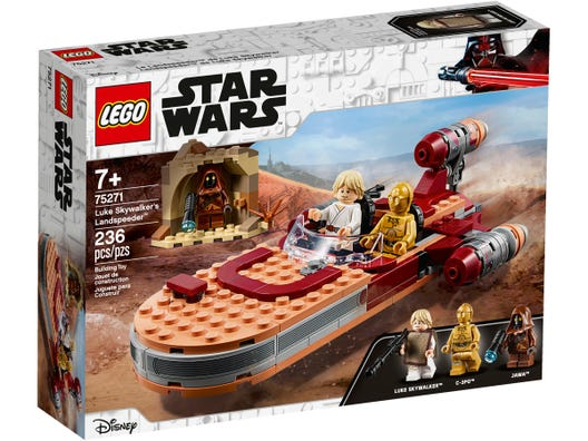 LEGO Star Wars: A New Hope Luke Skywalker's Landspeeder 75271 Building Kit, Collectible Star Wars Set, New 2020 (236 Pieces)