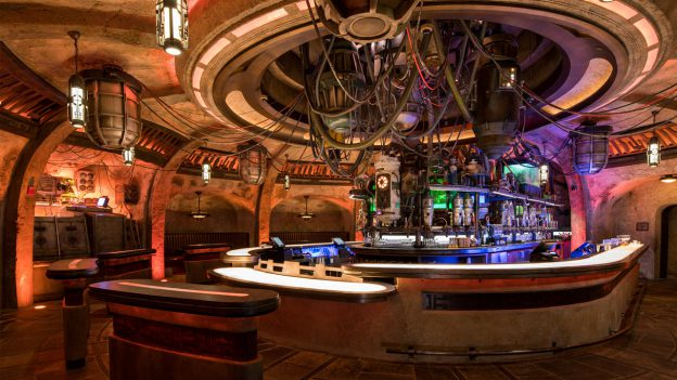If those don't sound like they'll quench your thirst then there is always Oga Garra's Cantina. Here, you can find an array of both alcoholic and non-alcoholic beverages. These drinks, Batuu Brew, Black Spire Brew, Blurrgfire, Toniray White, Andoan White, Fuzzy Tauntaun and Moogan Tea.