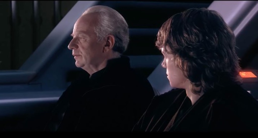 Palpatine's Speech to Kylo Ren when he finally finds him on Exegol is similar to the one he gives his grandfather, Anakin, back in Revenge of the Sith when he told him about Darth Plagueis the wise.