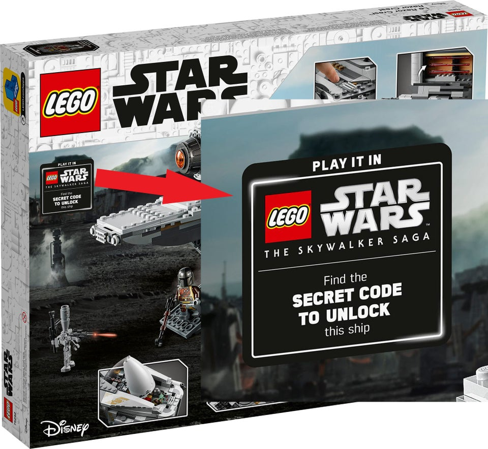 """The lack of microtransactions will be made up in LEGO's new method of buying sets to unlock them in gameplay. The Mandalorian's Razorcrest will be a playable ship in the game once the player purchases the physical LEGO set. The set will release September 1st 2020 and will feature a """"key"""" to unlock the ship in the game."""