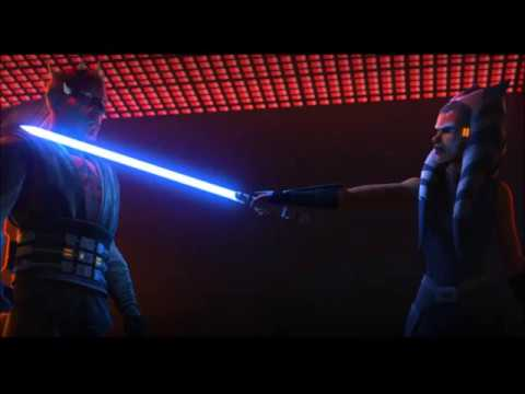 """Ahsoka is a survivor and as we have seen dozens of times through The Clone Wars, she's an extremely intelligent """"citizen"""". She's trapped on a clone command ship, so she is surrounded, along with Maul. Maul has no problem with navigating his way around the ship, even without a lightsaber and this shows how much of a survivor he is, too."""