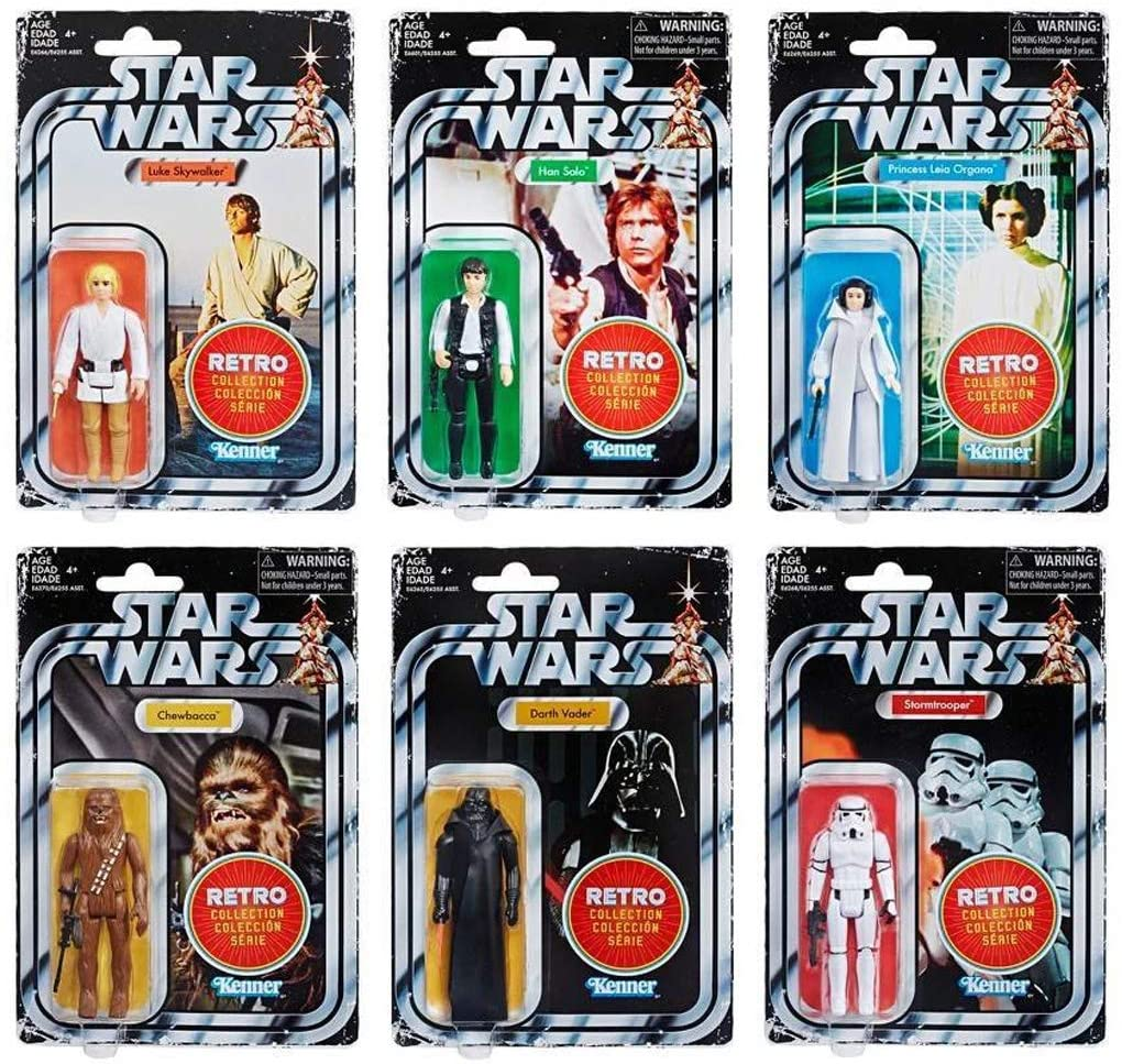 The Star Wars Retro collection wave 1 from a New hope