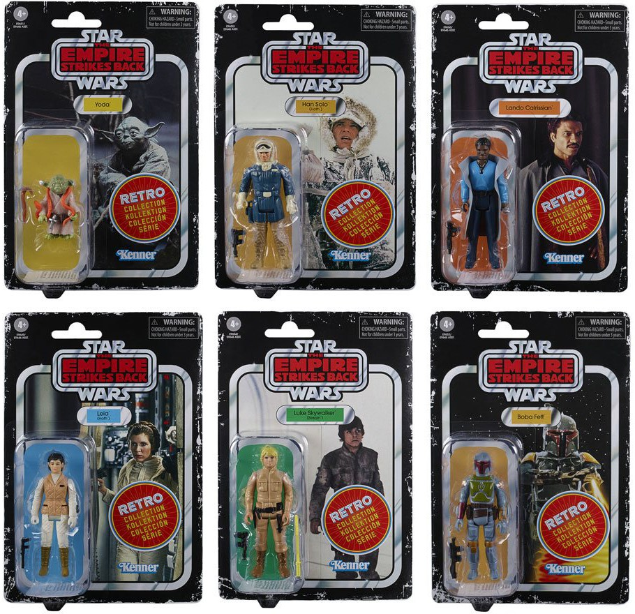 The Star Wars Retro Collection Wave 2 Complete from The Empire Strikes Back