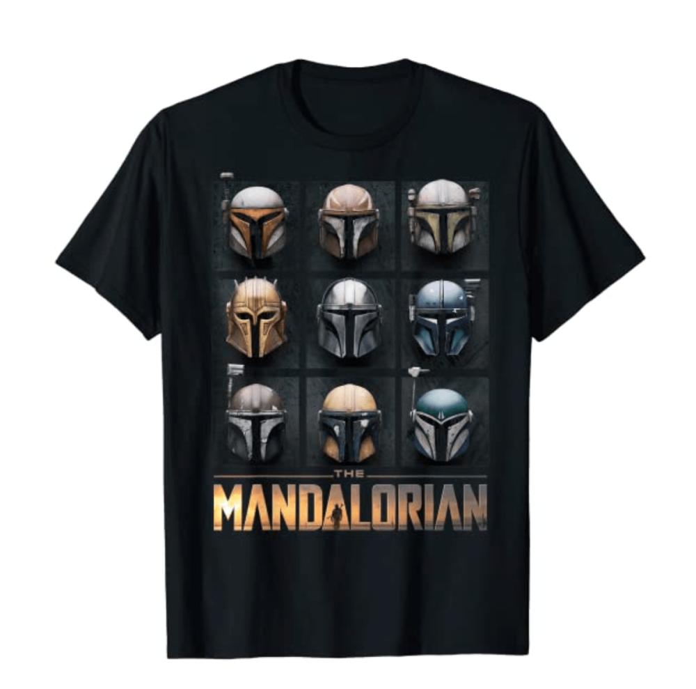 Star Wars The Mandalorian Helmet Box Up T-Shirt