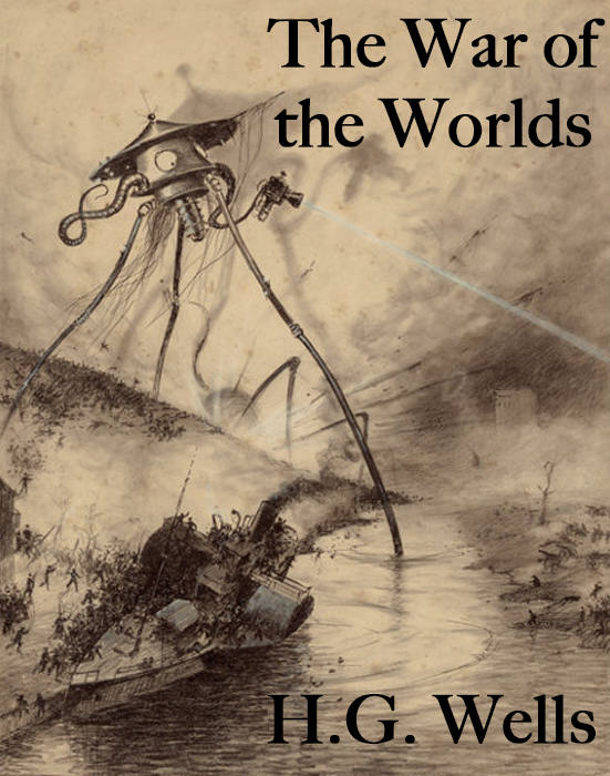 H.G. Wells War of the worlds cover. The alien Tripod was his inspiration for the at at.