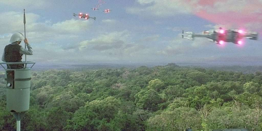 Yavin 4 is the next moon to look at and this is where the rebel alliance seeks refuge and rallies before going to attack the death star. It circles the Red gas giant Yavin Prime and has no significant resources within the moon.