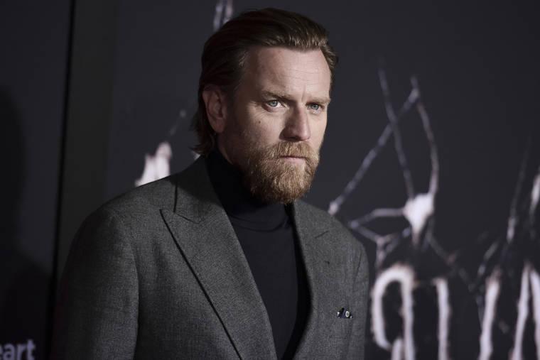 Ewan McGregor sporting his Kenobi beard.